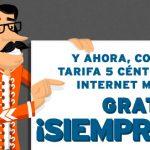 Simyo regala 300MB/mes de Internet para siempre en su tarifa de 5c/min con consumo minimo 6€+IVA al mes