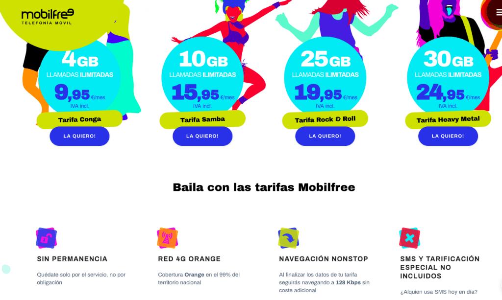 MobileFree Tarifas anteriores más baratas