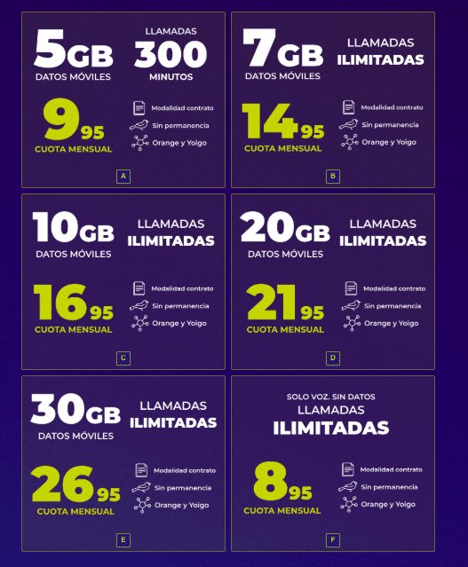 Mobilfree incrementa sus tarifas