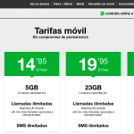 AMENA mantiene 23GB en su tarifa de 19,95€