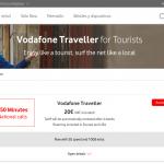 La tarifa prepago de VODAFONE para turistas: 25GB y 150 minutos por 20€