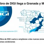 DIGI amplia de nuevo cobertura fibra: Granada y Malaga.