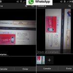 WhatsApp permite agregar comentarios en fotos y activa confirmación entrega en grupos.