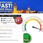 ADAMO inicia su cobertura de fibra de hasta 1GBIT/segundo en Sevilla.