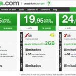 AMENA mejora sus tarifas para competir con YOIGO con 2GB por 19,95€ y 3GB por 24,95€ ambas ilimitadas.