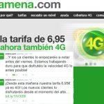Los clientes de AMENA de la tarifa de 6,95€ con 1GB tendrán 4G a partir de este viernes.