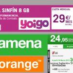 AMENA responde a YOIGO con una ilimitada con 7GB 4G por 24,95€ al mes.