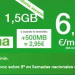 AMENA ofrece 1,5GB por 6,95€ hasta el 15 de Septiembre