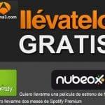 Consigue 2 meses de Spotify Premium y una película en Nubeox con la oferta llevatelo de Antena3.