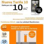 Bankinter movil: 10c/min con minutos gratis. 2c/min de beneficio adicional a la competencia.