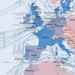 Telegeography nos permite ver todas fibras submarinas del mundo online.