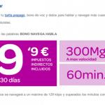 Carrefour saca un bono con Internet ilimitado y 60 minutos por 9,99euros/mes.