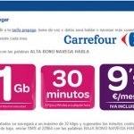 Carrefour lanza un bono de prepago con 1GB y 30 minutos por 9,9€ poco atractivo.