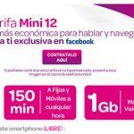 Carrefour ofrece con posibilidad de subvención a números portados: 12€ con IVA 1GB+150 minutos al mes.