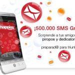 Coca cola regala 4sms diarios a cada usuario: Hasta 500 000 sms gratis.