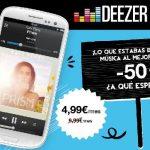 Deezer, un nuevo competidor a Spotify con acceso a la música desde el móvil por 5€/mes.