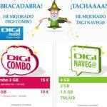 DIGI MOBIL mejora todas sus tarifas: 7GB por 31€