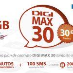 Más gigas en los planes DIGI MAX 20 y DIGI MAX 30