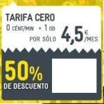 Solo en ECONOMIZA.com podemos contratar 6 meses a 4,5€ con 1GB en la tarifa CERO de MASMOVIL. ¡Aprovechar esta oferta!