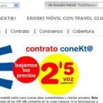 Eroski responde con la mejor tarifa del mercado con Internet en el móvil por 8€ a 2,5c/min