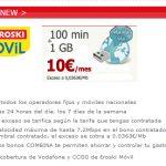Eroski saca el bono con IVA más barato de contrato con 100 minutos y 1GB por 10€ iva incluido al mes.