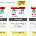 Eroski Móvil lanza su campaña de navidad de 1GB+100 minutos por 7,5€ 3 meses con permanencia 6 meses.