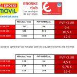 Eroski móvil más barato hasta mayo 2017 a socios del club.