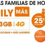 Euskaltel lanza Family Más si tienes fibra: 3GB+ilimitadas desde 12€