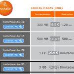 Euskaltel saca una tarifa ilimitada con 3GB por 24,9€ para ser mejor que AMENA.