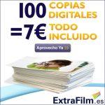 100 fotos reveladas por 7€ gastos de envio incluidos