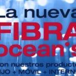 La fibra óptica de OCEANS a un precio interesante con 41,14€ cuota e iva incluido.