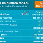 Fonyou ofrecerá 1000 min y 300 sms y renuncia a cobrar cuota en sus servicios.