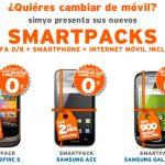 Simyo se lanza a competir con Yoigo regalando móviles en su tarifa de 8c/min con cuotas de Internet entre 12€ y 24€/mes.