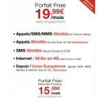 FREE amplia a 50GB su tarifa de 19,99€ al mes en Francia: YOIGO quitará la de 20GB en España.