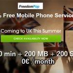 FREEdomPop ofrecerá una tarifa gratuita con Internet SMS y minutos en UK.