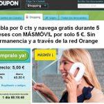 MASMOVIL llega a un acuerdo con GROUPON tienes un día para contratarlo. La tarifa CERO por 5€ 5 meses con 1GB incluido. ¿Qué más se puede pedir?