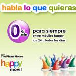 Happymovil comercializa en prepago 1GB+30 minutos por 12€ iva incluido.