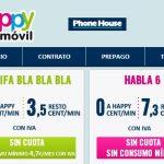Happymovil lanza su tarifa BLABLA sin datos con consumo mínimo 4,7€/mes y 3,5ct/min en contrato.