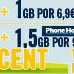 Happymovil reacciona al mercado mejorando sus tarifas con 0ct/min con Internet 6,9€ 1GB y 9€ 1,5GB.