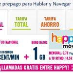 Happymovil lanza llamadas gratis sin establecimiento entre HAPPY en prepago al recargar 10€.