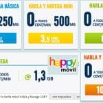 HAPPYMOVIL su tarifa de 1,3GB a 6€ ¡Gracias a MASMOVIL!