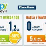 Happymovil mejora sus tarifas para hablar y navegar: 5,79€+IVA 1,2GB en su tarifa CERO.