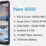 El nuevo móvil de 6.5″ con 2GB de RAM por 280€ con Quad Core 1,5GHZ.