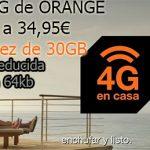 Internet 4G en casa de ORANGE sube de precio y disminuye velocidad reducida a 64kb/seg.