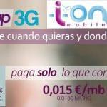 SIM solo de datos esporádicos: ION MOBILE ofrece 1,5 céntimos +IVA por MB con cuota. ¿Alternativas?