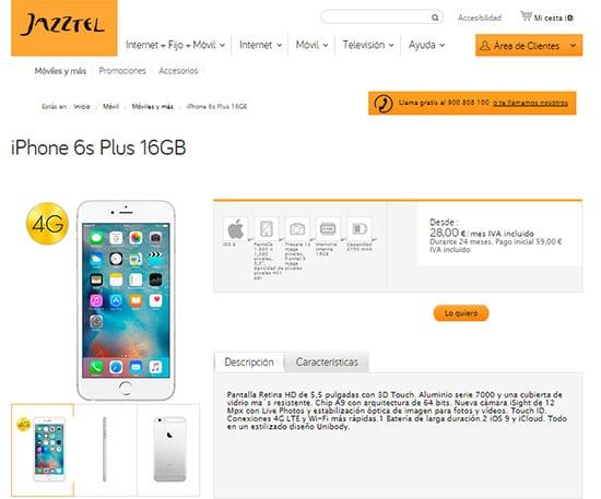 iphone6splusjazztel16gb
