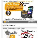 Jazztel hasta el 30 junio ofrece 600 min por 29,95€/mes las 24 horas para siempre si se es cliente de Jazztel Adsl.