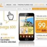 Jazztel sigue subvencionando terminales: Samsung Galaxy Note por 99€ y Samsung te devuelve 100€.