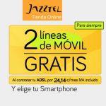 JAZZTEL aún más agresiva: 2 lineas móviles GRATIS con tu ADSL.