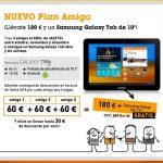 Presenta Jazztel a 3 clientes y llevate un tablet Galaxy Tab 10 y 180€ de descuento.